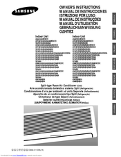 Samsung Split-type Room Air Conditioner Manuals