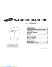 Samsung Washing machine Manuals