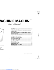 Samsung Washing Maching Manuals