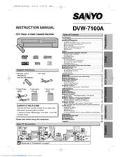 Sanyo DVW-7100a Manuals