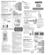 Sanyo DP15647 Manuals