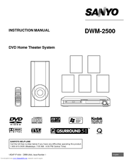 Sanyo DWM-2500 Manuals