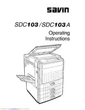 Savin SDC103 Manuals
