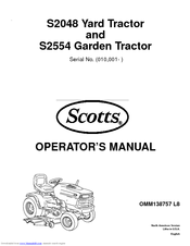 Scotts S2554 Manuals