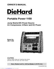 Diehard Portable Power 1150 Manuals