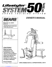 Sears LIFESTYLER SYSTEM 50 ERS Manuals