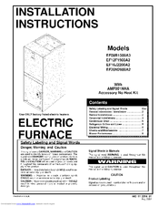 Icp EF12F1900A2 Manuals