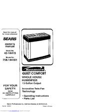 Kenmore KENMORE 758.144151 Manuals