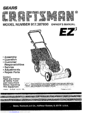 Craftsman 917.38783 Manuals