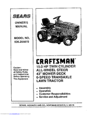 Craftsman 536.25587 Manuals