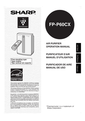 Sharp Plasmacluster FP-P60CX Manuals