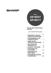 Sharp AR-M317 Manuals