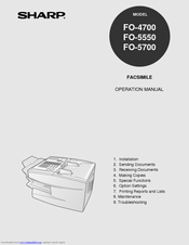 Sharp Fo-57 User Manual