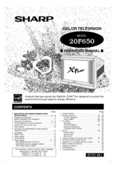 Sharp XFlat 20F650 Manuals