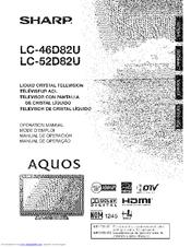 Sharp Aquos LC-52D82U Manuals