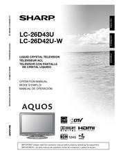 Sharp AQUOS LC26D43U Manuals