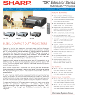 Sharp Notevision XR-10X Manuals
