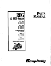 Simplicity 1691108 Manuals