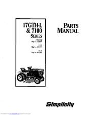 Simplicity 7117 Manuals