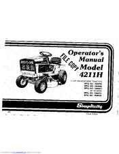 Simplicity 4211 Series Manuals
