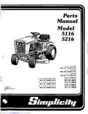 Simplicity 5116 Manuals