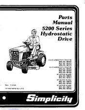 Simplicity 5200 Series Manuals