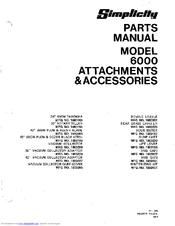 Simplicity 6000 Manuals