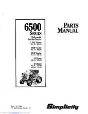 Simplicity 6500 Series Manuals