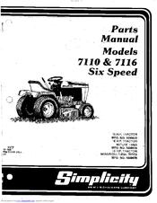 Simplicity 7116 Manuals
