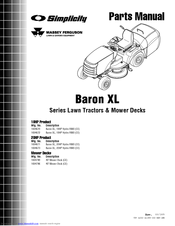 Simplicity Baron XL Manuals
