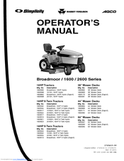 Simplicity Broadmoor 16HP V-Twin Manuals