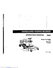 Deutz-allis Vanguard FC2124 Manuals