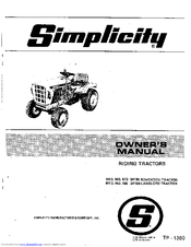 Simplicity Sovereign 872 3416S Manuals