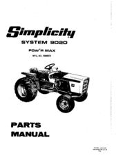 Simplicity singer 9020 Manuals