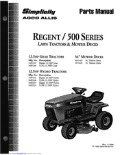 Simplicity 1691419 Manuals