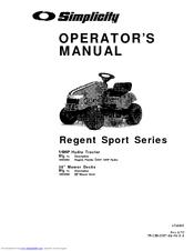 Simplicity Regent 1693264 Manuals