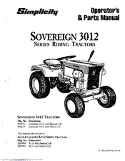 Simplicity Sovereign 3012 Series Manuals