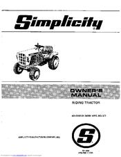 Simplicity Sovereign 3416H Manuals