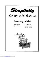 Simplicity 1691413 Manuals
