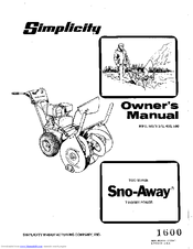 Simplicity Snow-Away 560 Manuals