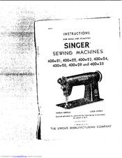 Singer 400W21 Manuals