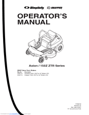 Snapper 150Z ZTR Series Manuals