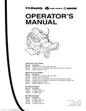 Snapper Fast Cut ZT20500BV Manuals