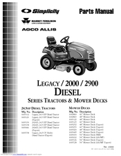 Simplicity LEGACY Series Manuals
