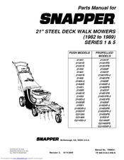 Snapper 21355P Manuals