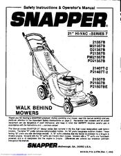 Snapper P21357B Manuals