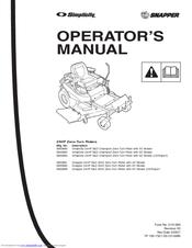 Snapper 350Z Manuals