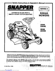 Snapper 25069 Manuals