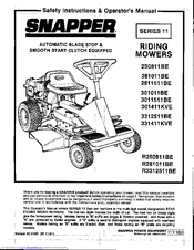 Snapper 3312511BE Manuals