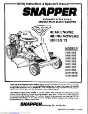 Snapper 281013BE Manuals